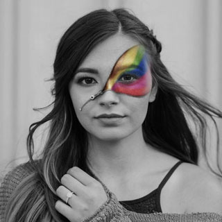 Rainbow Zipper Face