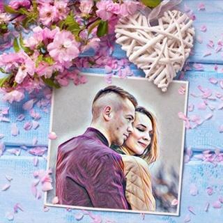 Sacura Flowers Love Postcard