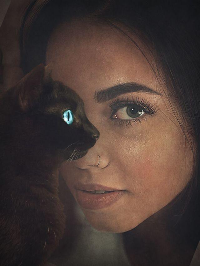Black Cat Face Illusion