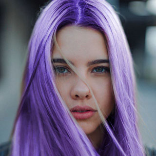 Dye My Hair Violet