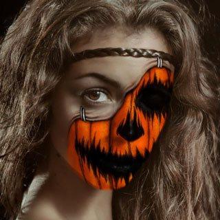 Pumpkin Demon Makeup