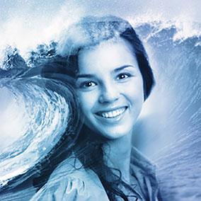 Ocean Wave Double Exposure