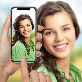 iPhone X in Hands