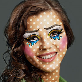 Dotted Comic Makeup