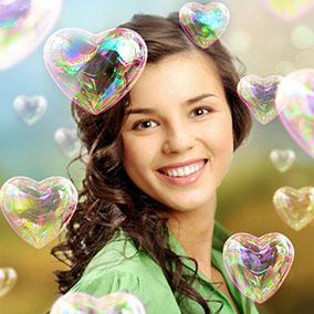 Heart Shaped Bubbles
