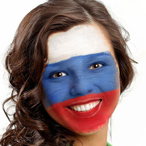 Russia Face Paint