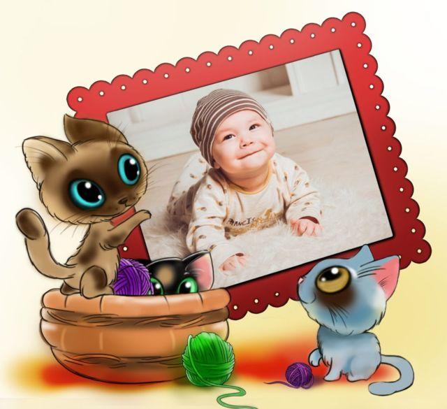 Cute Kittens Frame