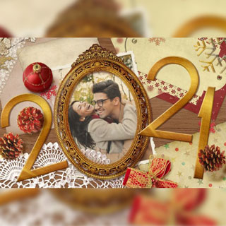 New Year Frame
