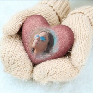 Heart in Hands with Mittens On