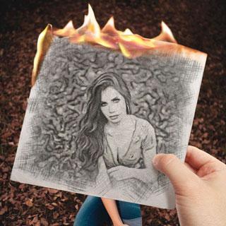Burning Sketch Effect