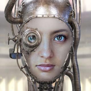 Steampunk Robot Face Mask