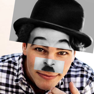 Chaplin Face and Hat Sticker
