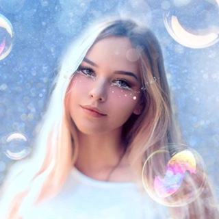 Anime Style with Bubbles