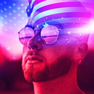 American Flag Double Exposure