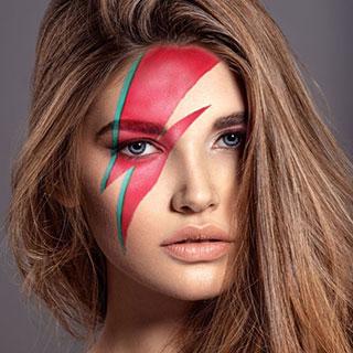 Lightning Bolt Makeup