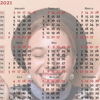 Transparent Calendar 2021
