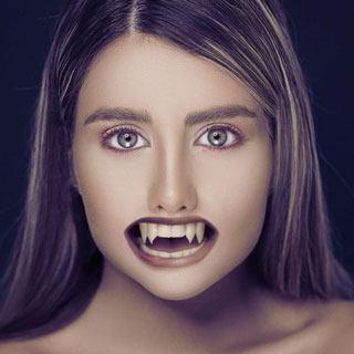 Vampire Teeth Effect