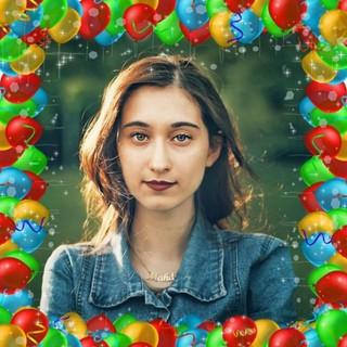 Party Balloons Photo Frame